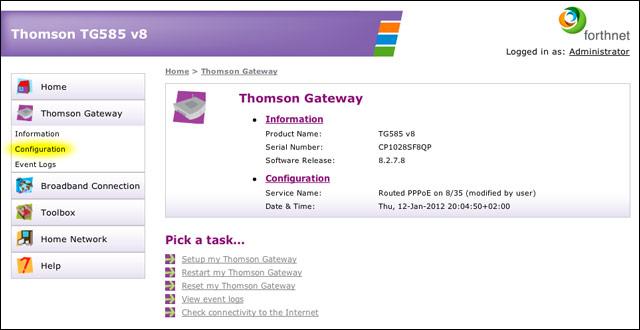 Re-enable telnet on Thomson TG585 v8 routers – MacKonsti