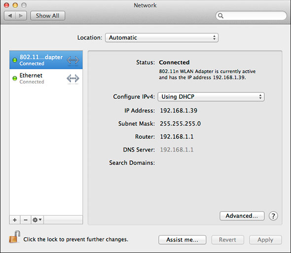 Mountain Lion 'Internet Sharing' Wi-Fi Settings