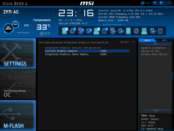 Setting up MSI Z97i-AC motherboard (for running OS X